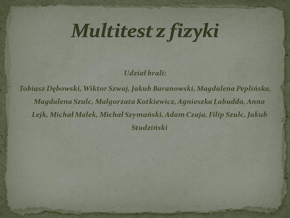 Multitest z fizyki