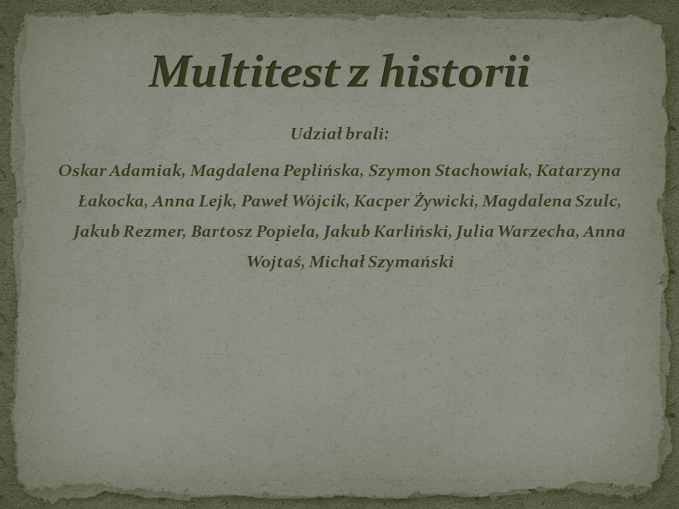Multitest z historii