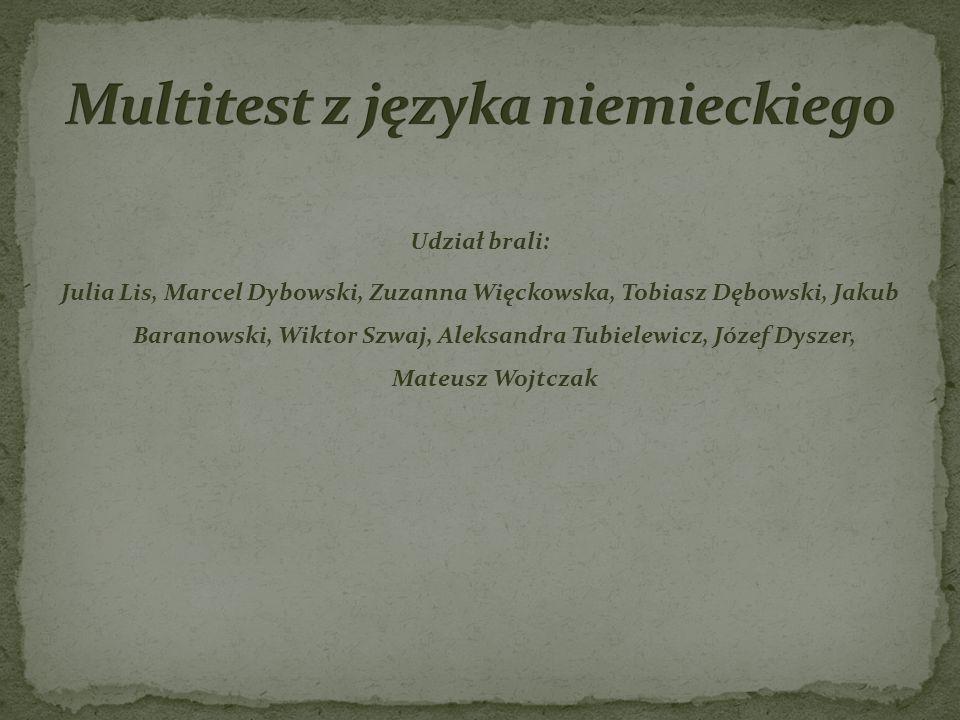 Multitest z języka niemieckiego