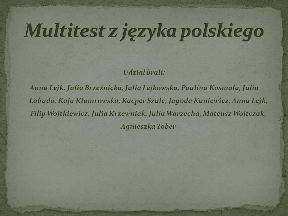 Multitest z języka polskiego