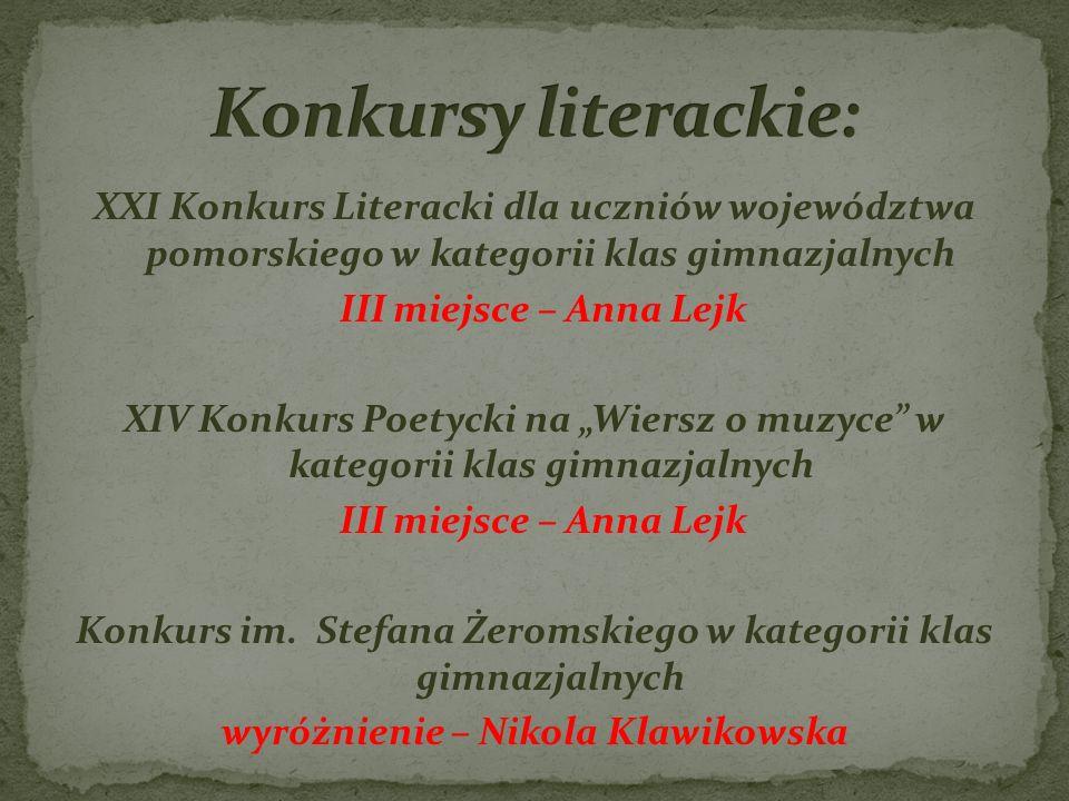 Konkursy literackie: