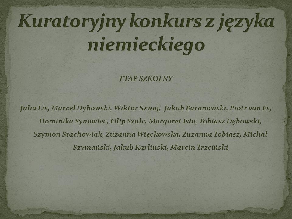 Kuratoryjny konkurs z języka niemieckiego