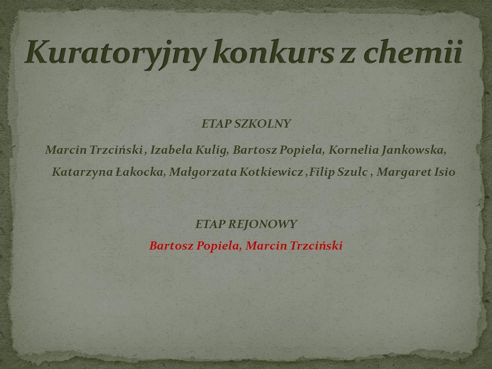 Kuratoryjny konkurs z chemii