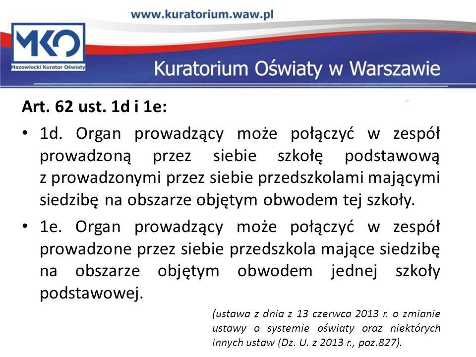 Art. 62 ust. 1d i 1e:
