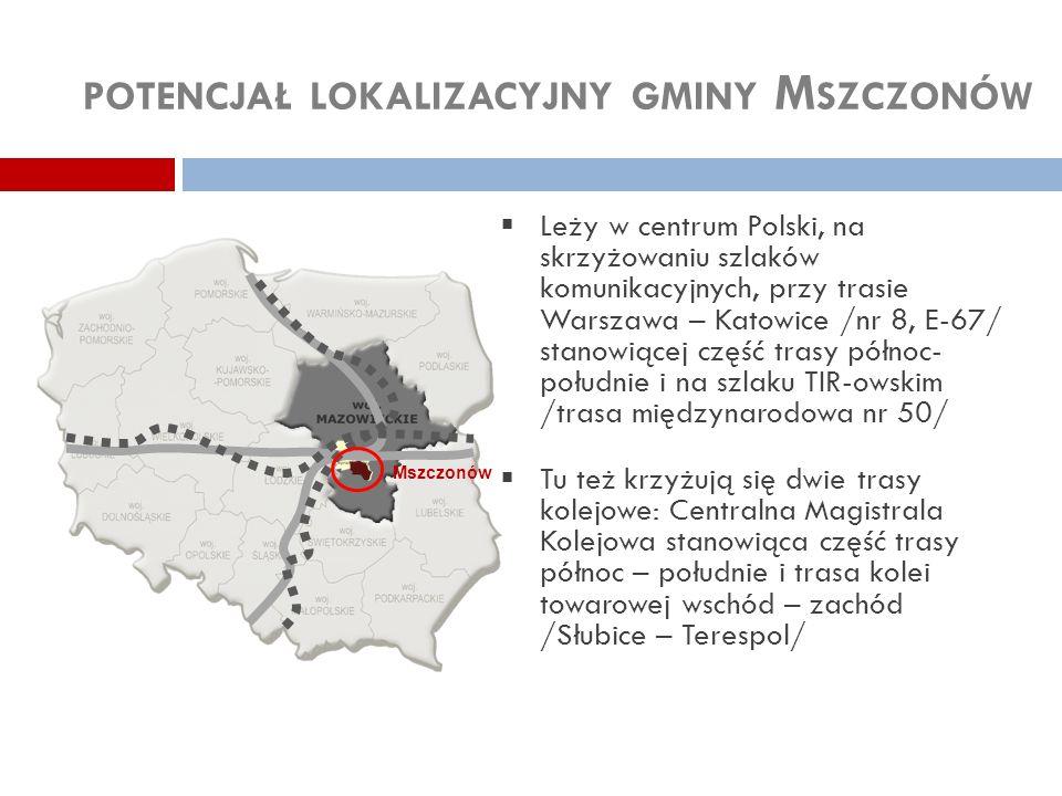 potencjał lokalizacyjny gminy Mszczonów