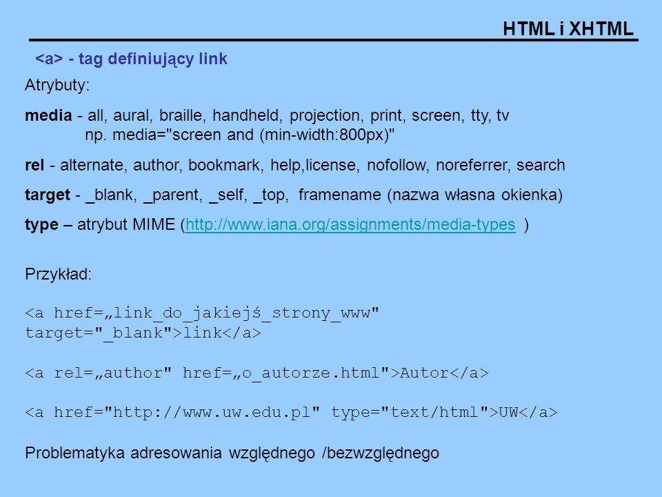 <a> - tag definiujący link