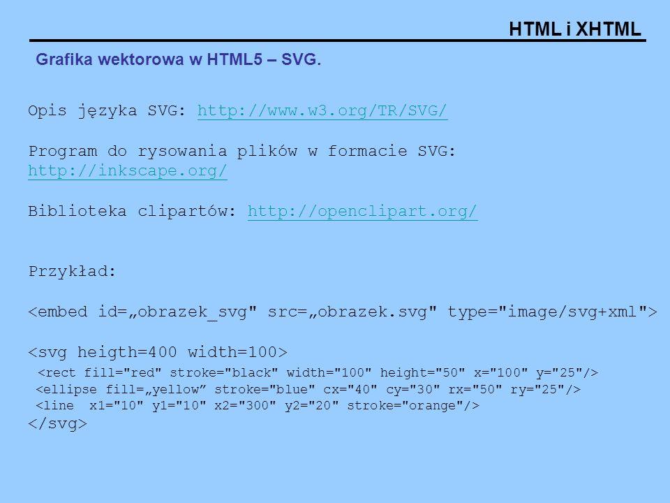 Grafika wektorowa w HTML5 – SVG.