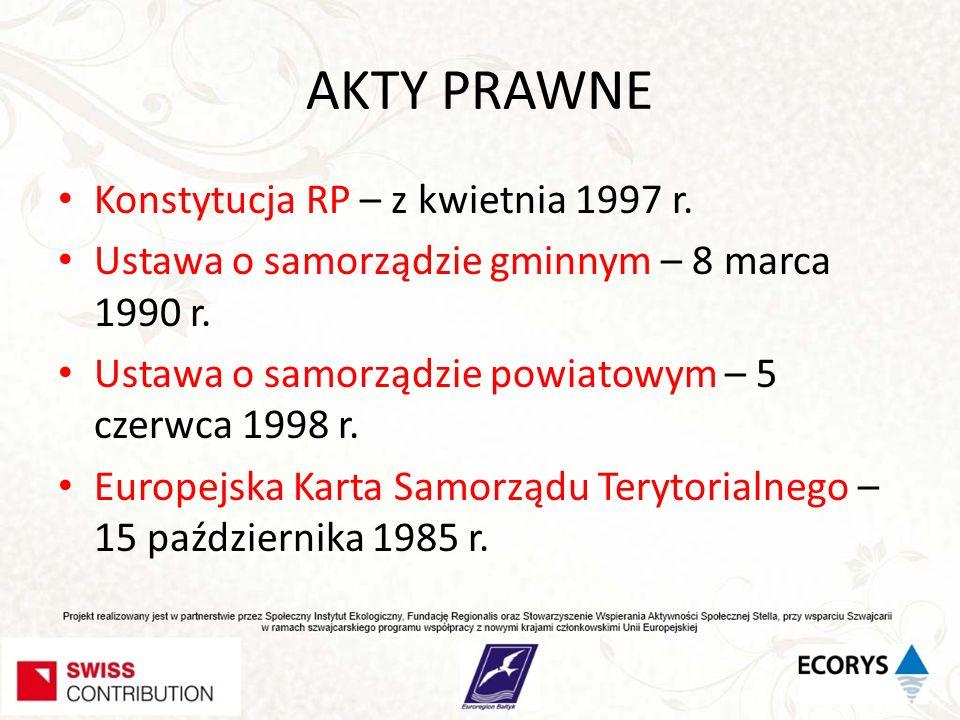 AKTY PRAWNE Konstytucja RP – z kwietnia 1997 r.