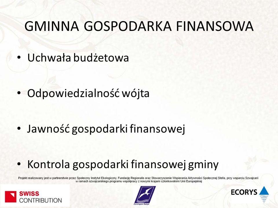 GMINNA GOSPODARKA FINANSOWA