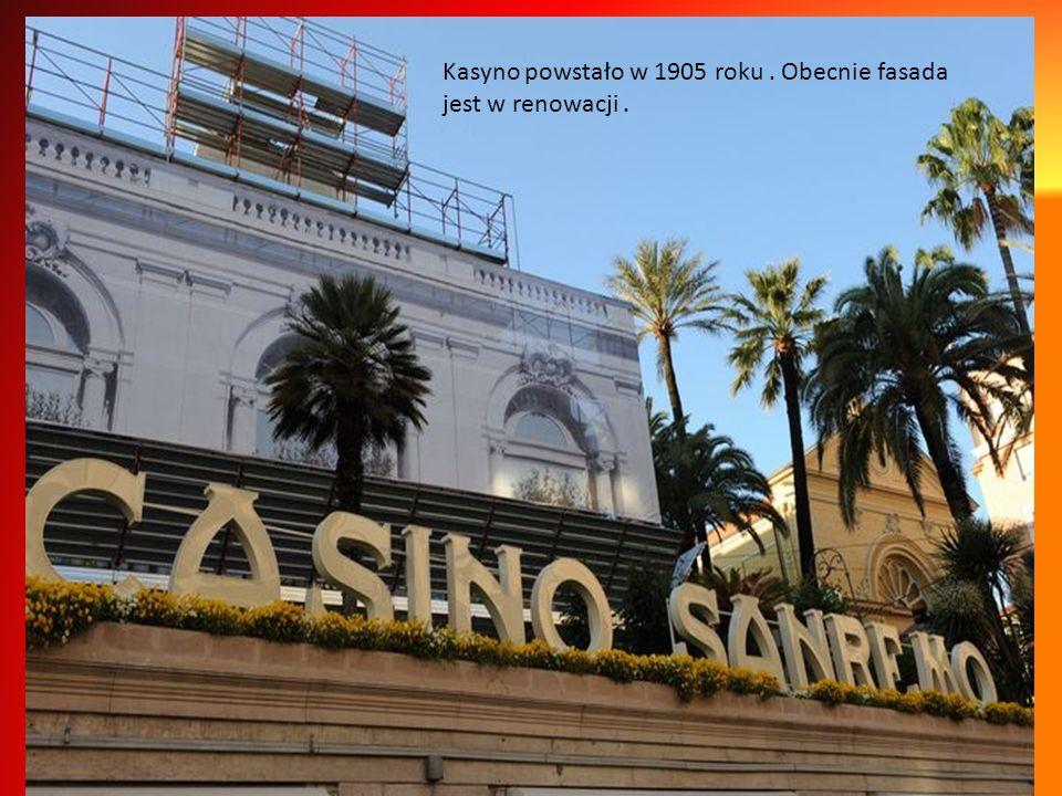 Kasyno powstało w 1905 roku . Obecnie fasada jest w renowacji .