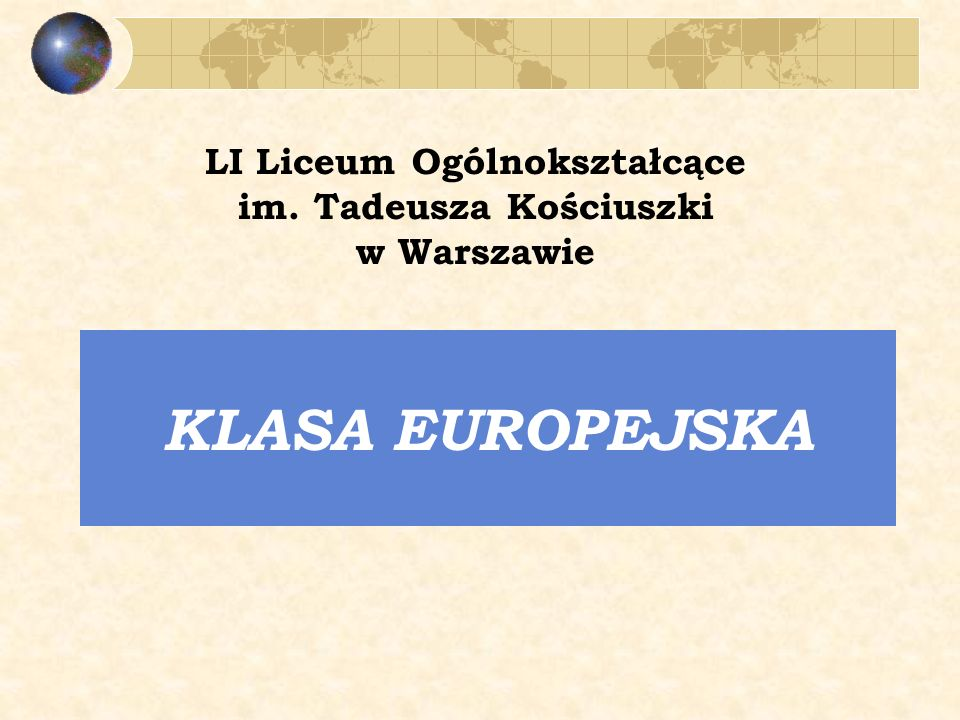 LI Liceum Ogólnokształcące im. Tadeusza Kościuszki
