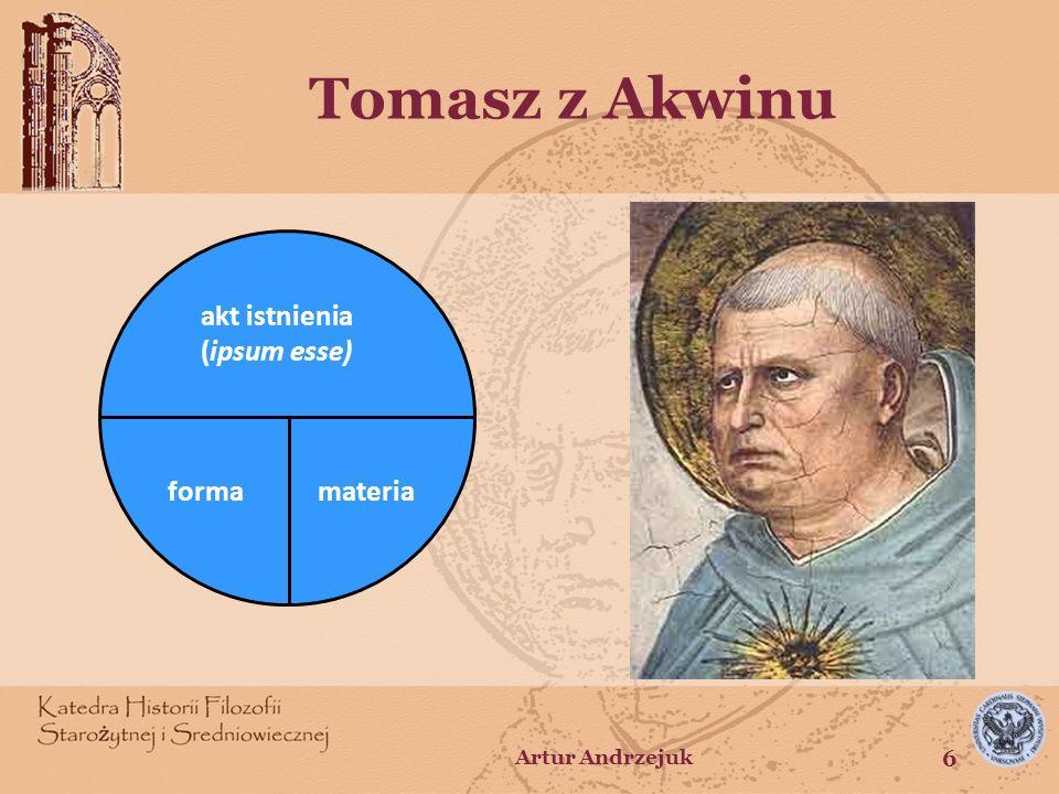 Tomasz z Akwinu forma materia akt istnienia (ipsum esse)