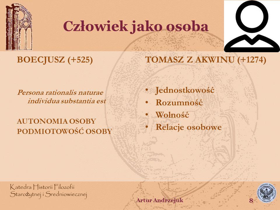 Człowiek jako osoba BOECJUSZ (+525) TOMASZ Z AKWINU (+1274)