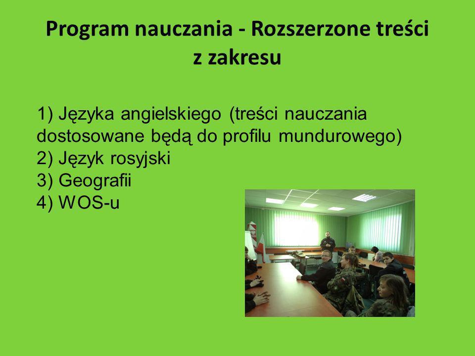 Program nauczania - Rozszerzone treści z zakresu