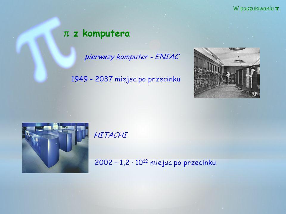 p z komputera pierwszy komputer - ENIAC