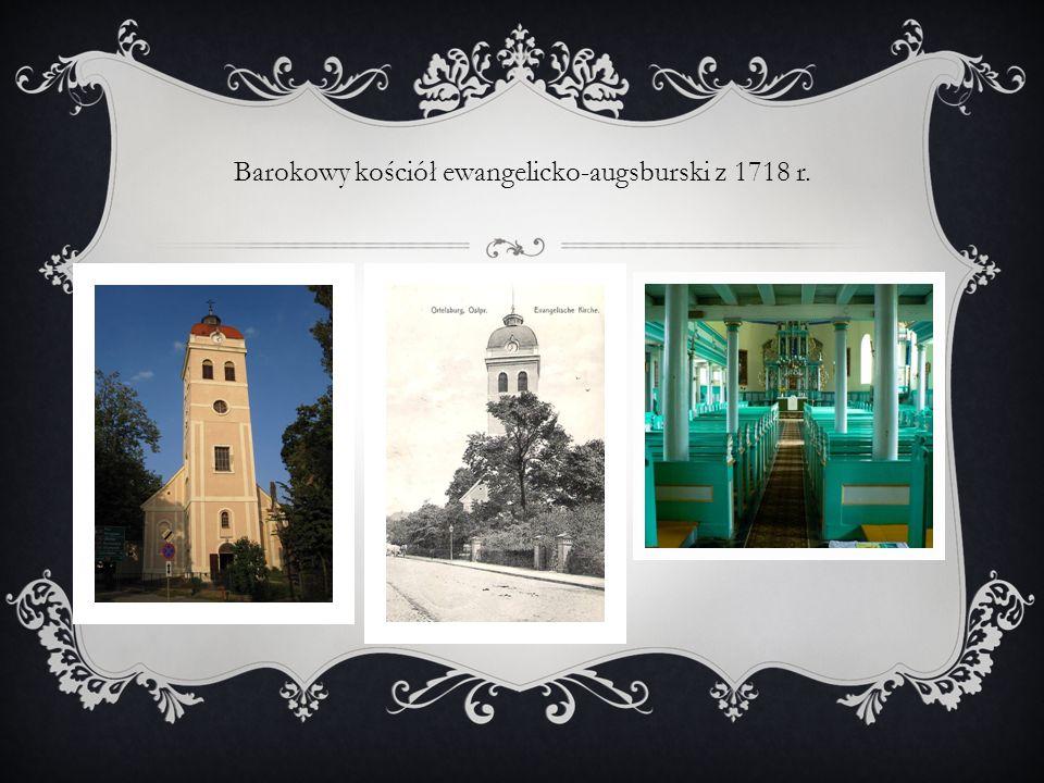 Barokowy kościół ewangelicko-augsburski z 1718 r.