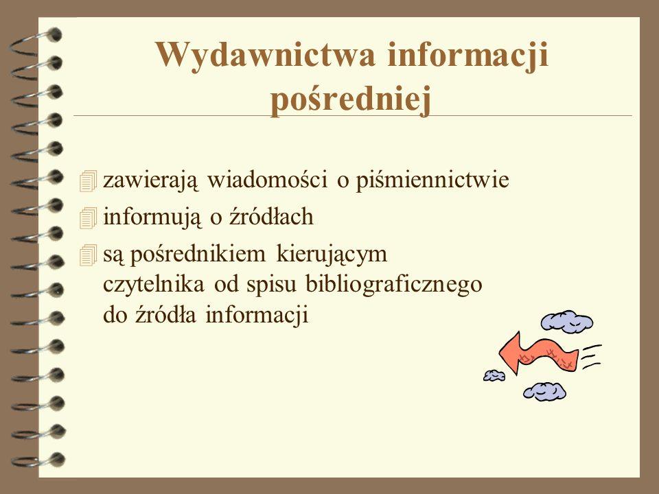 Wydawnictwa informacji pośredniej