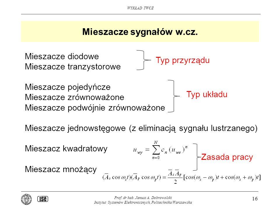 Mieszacze sygnałów w.cz.