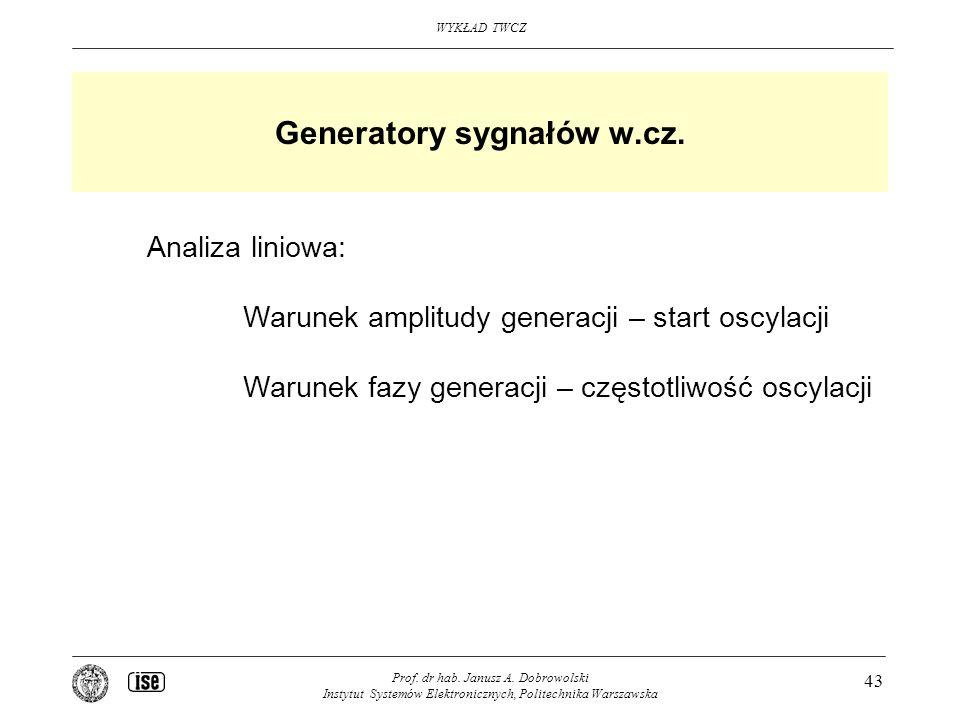 Generatory sygnałów w.cz.
