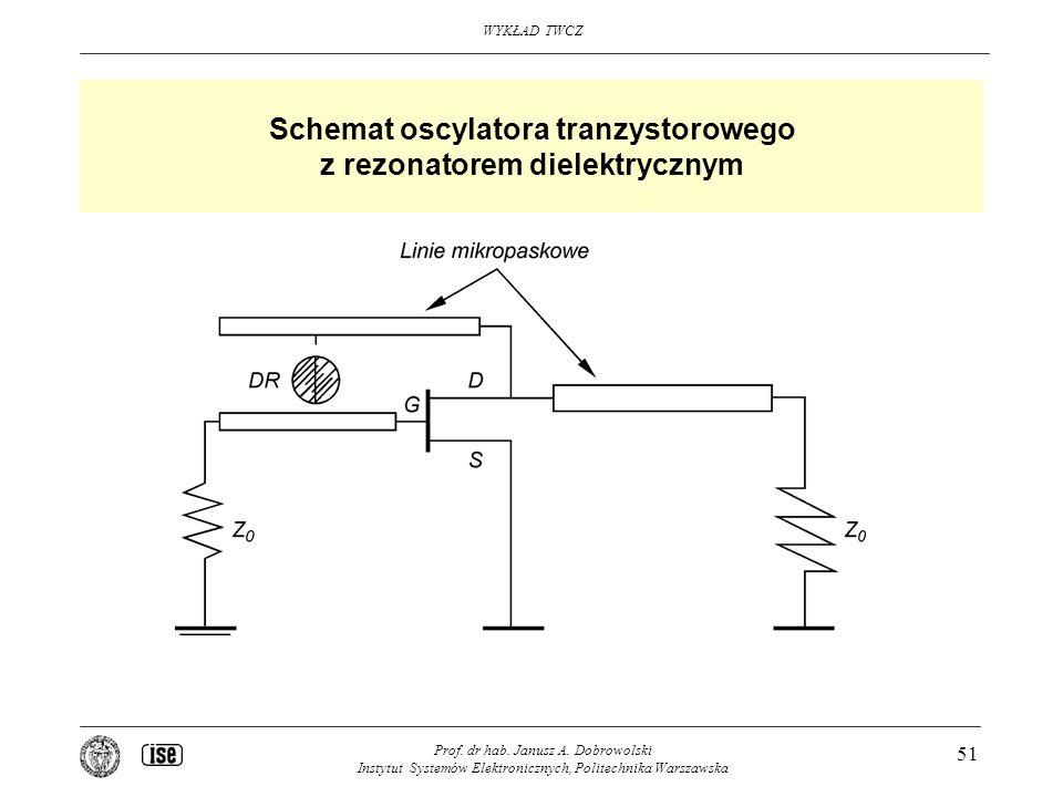 Schemat oscylatora tranzystorowego z rezonatorem dielektrycznym