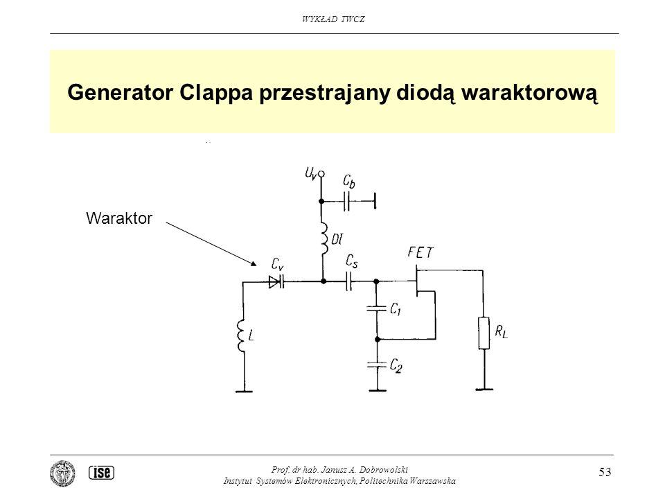 Generator Clappa przestrajany diodą waraktorową