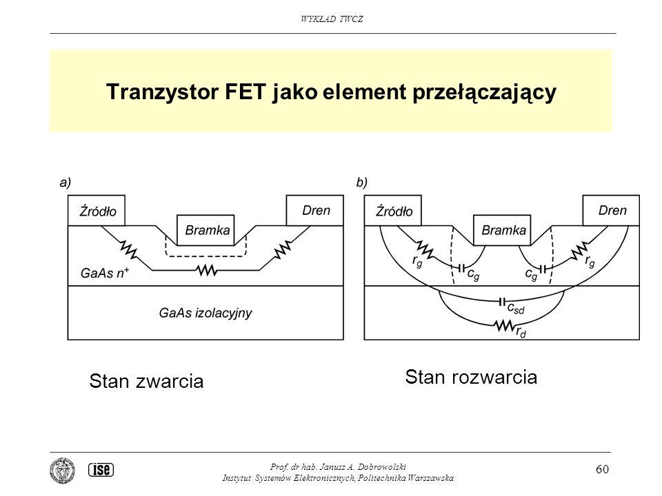 Tranzystor FET jako element przełączający