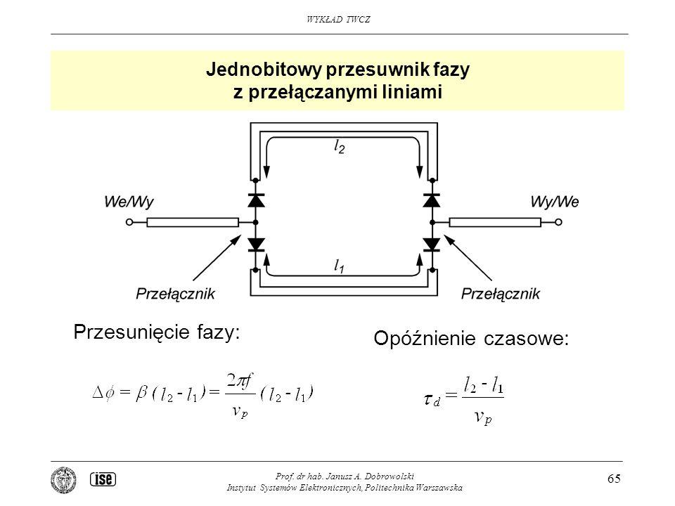 Jednobitowy przesuwnik fazy z przełączanymi liniami