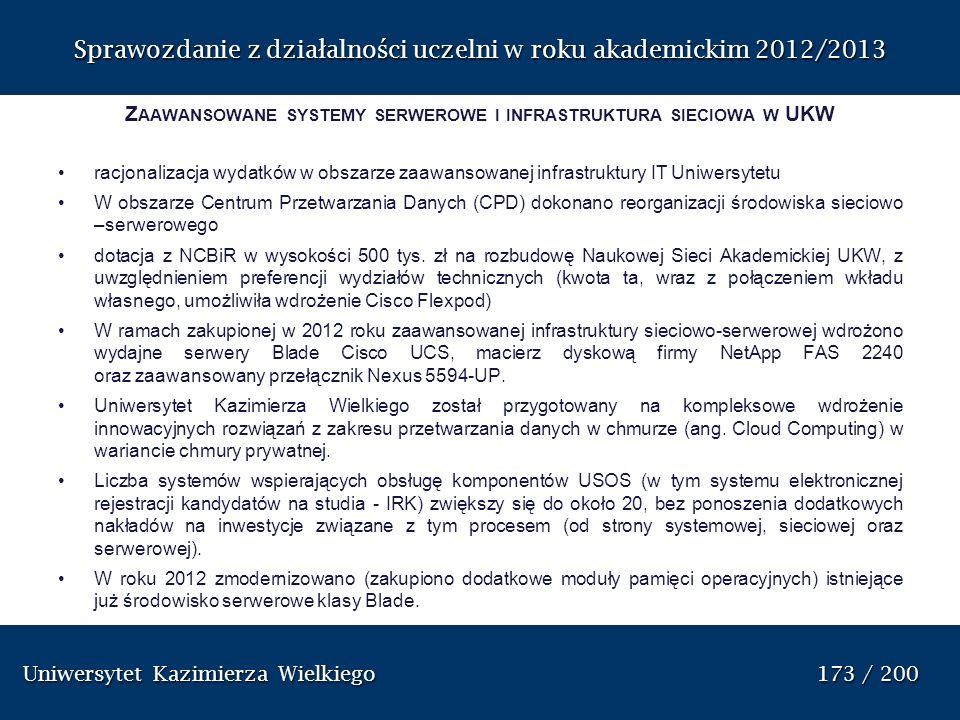 Zaawansowane systemy serwerowe i infrastruktura sieciowa w UKW