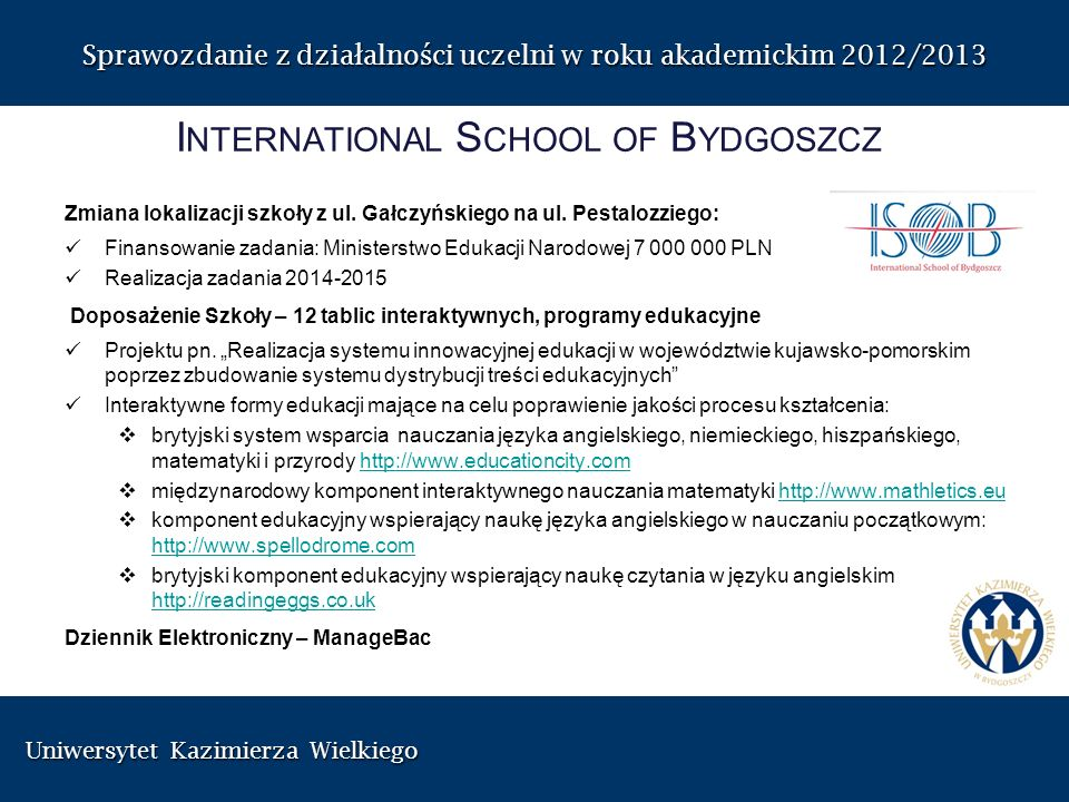 International School of Bydgoszcz