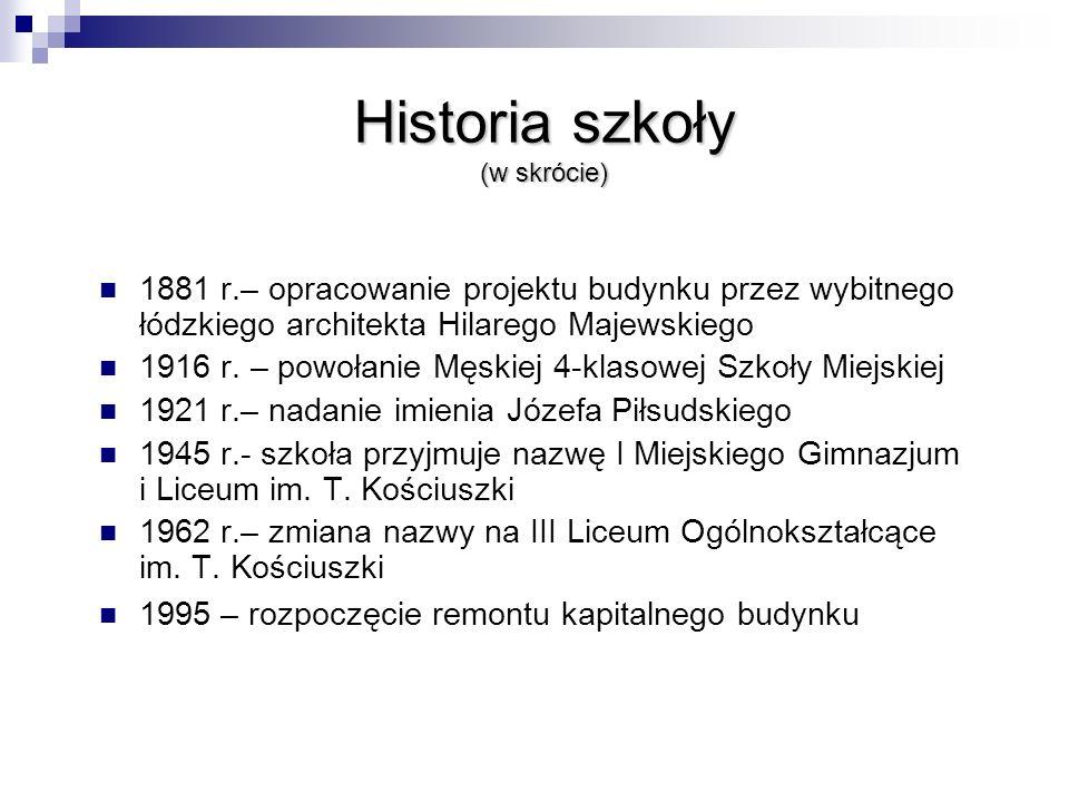 Historia szkoły (w skrócie)
