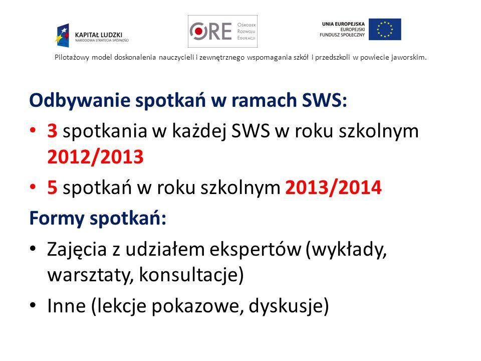 Odbywanie spotkań w ramach SWS: