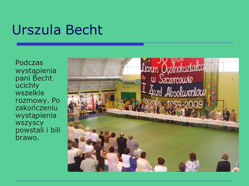 Urszula Becht Podczas wystąpienia pani Becht ucichły wszelkie rozmowy.