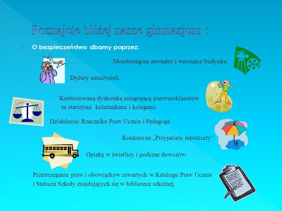 Poznajcie bliżej nasze gimnazjum :