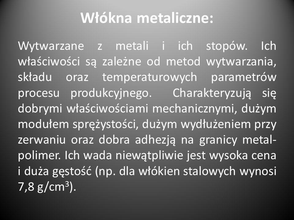 Włókna metaliczne: