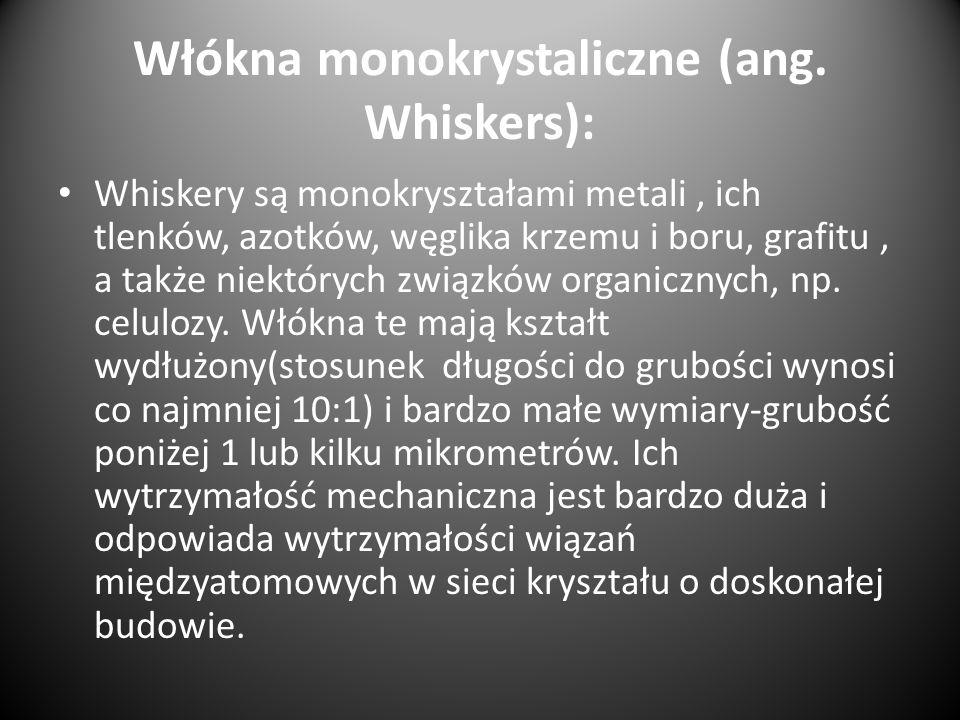 Włókna monokrystaliczne (ang. Whiskers):