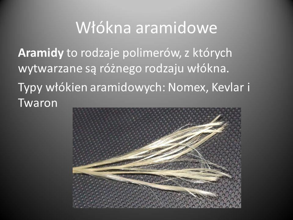 Włókna aramidowe Aramidy to rodzaje polimerów, z których wytwarzane są różnego rodzaju włókna.