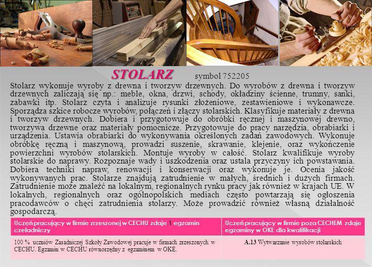 A.13 Wytwarzanie wyrobów stolarskich