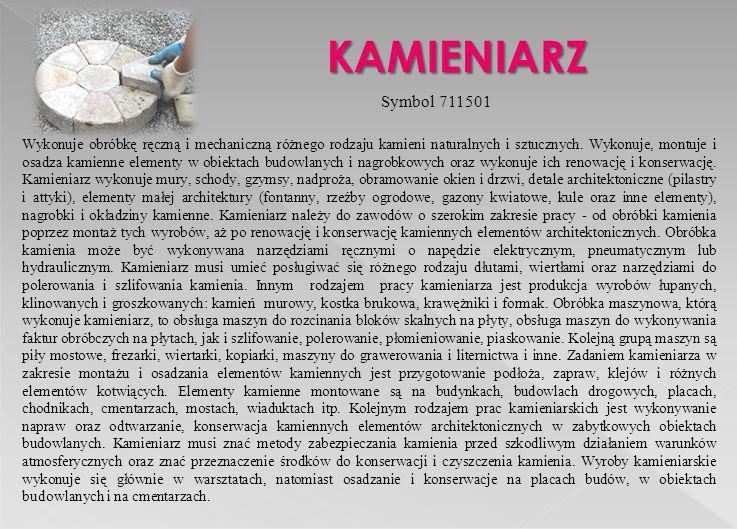 KAMIENIARZ Symbol 711501.