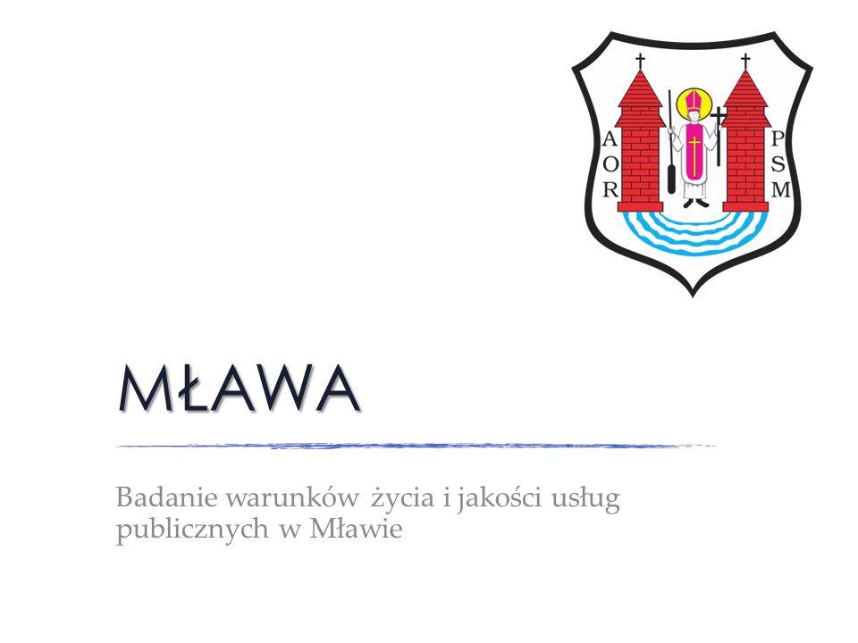 Badanie warunków życia i jakości usług publicznych w Mławie
