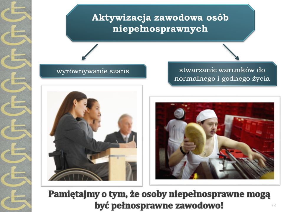 Aktywizacja zawodowa osób niepełnosprawnych