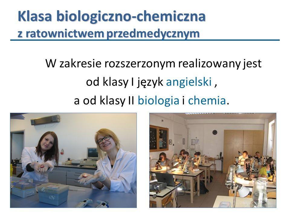 Klasa biologiczno-chemiczna z ratownictwem przedmedycznym