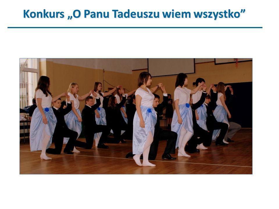 """Konkurs """"O Panu Tadeuszu wiem wszystko"""