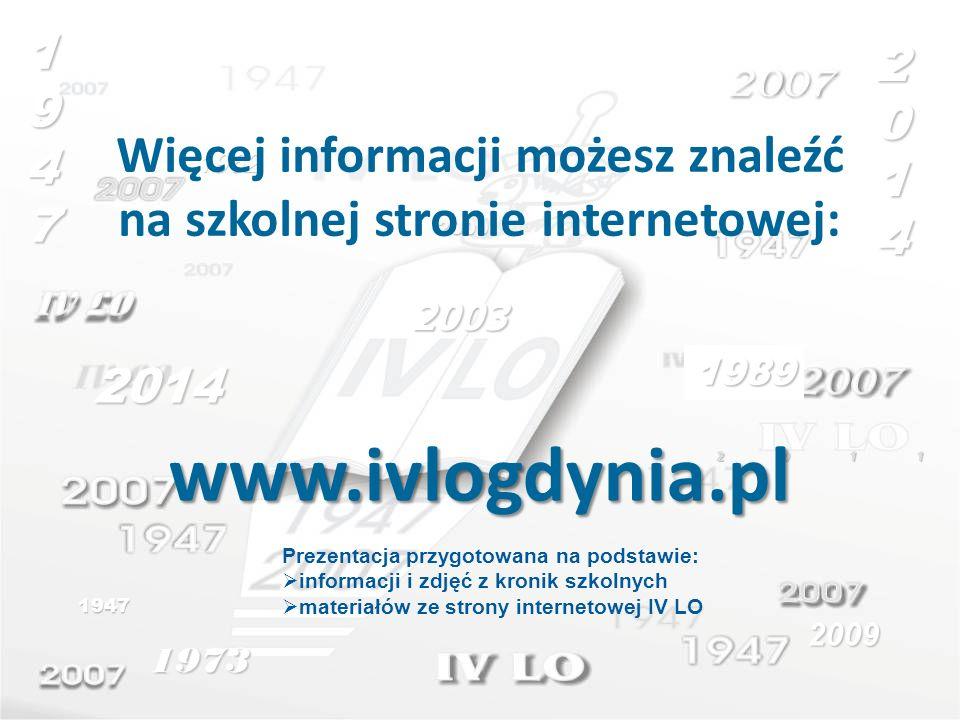 Więcej informacji możesz znaleźć na szkolnej stronie internetowej: