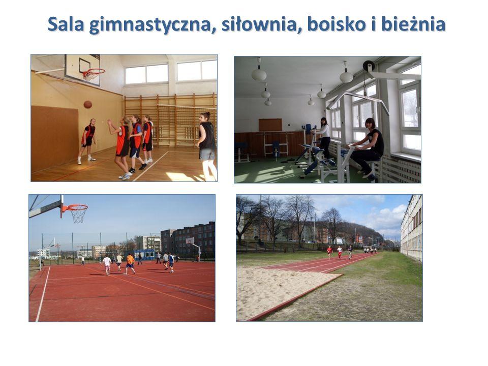 Sala gimnastyczna, siłownia, boisko i bieżnia