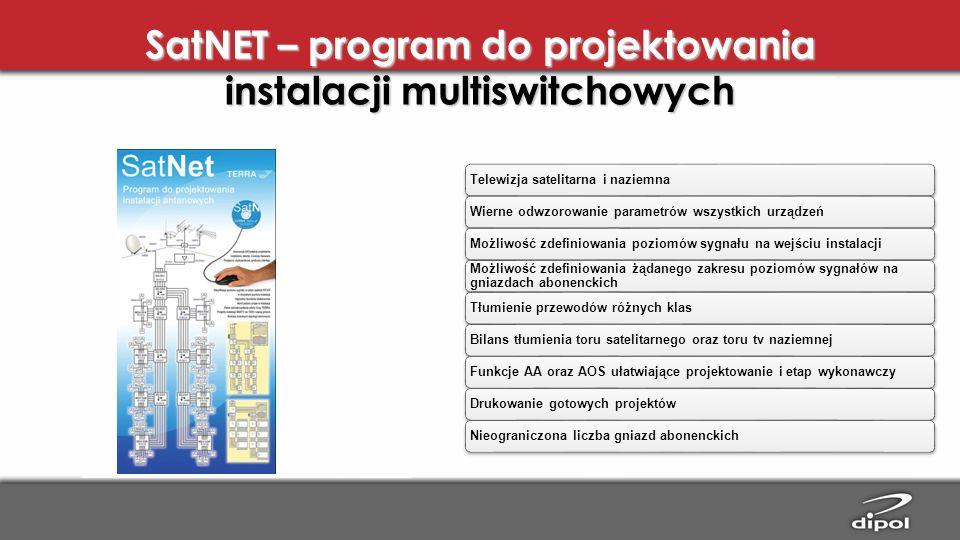 SatNET – program do projektowania instalacji multiswitchowych