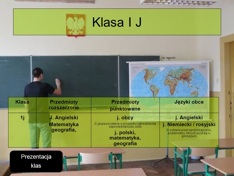Przedmioty rozszerzone j. polski, matematyka, geografia