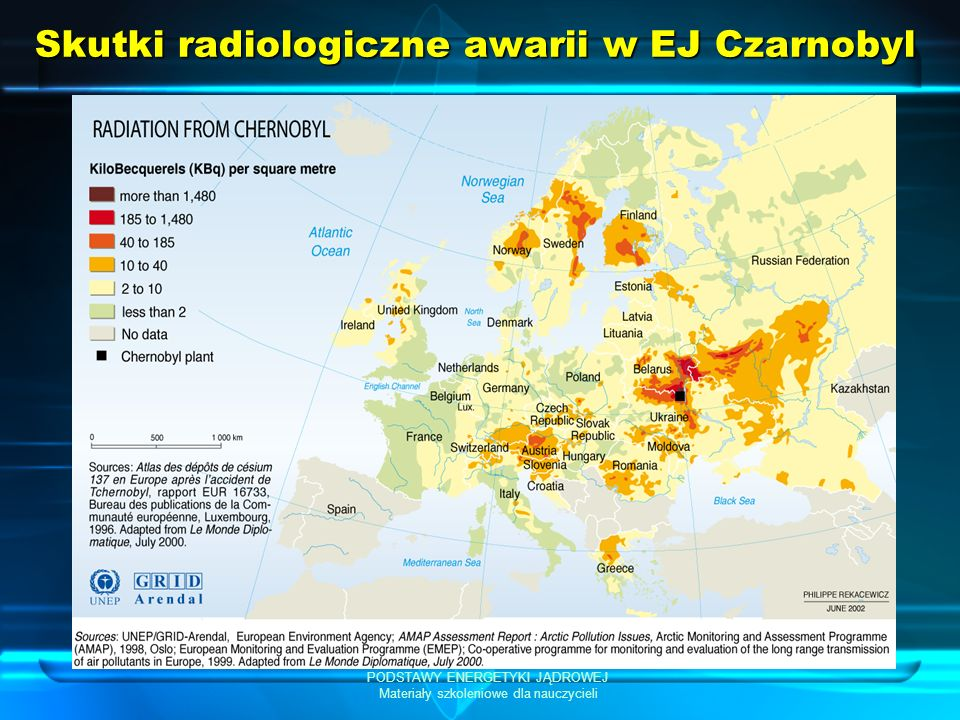 Skutki radiologiczne awarii w EJ Czarnobyl