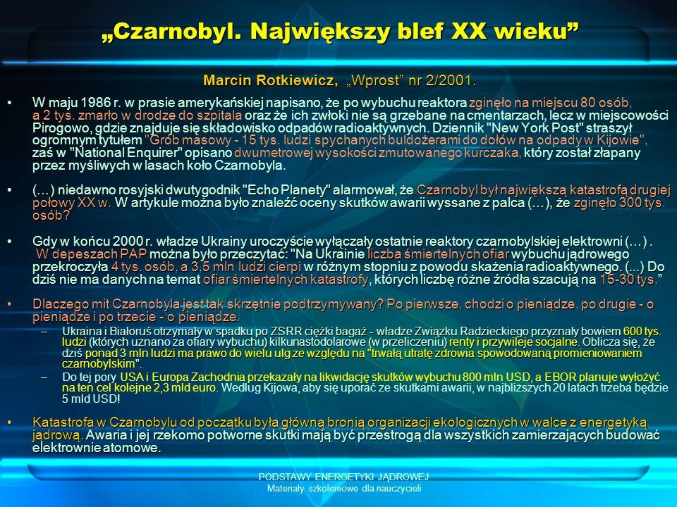 """""""Czarnobyl. Największy blef XX wieku"""