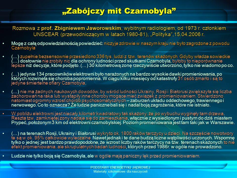 """""""Zabójczy mit Czarnobyla"""