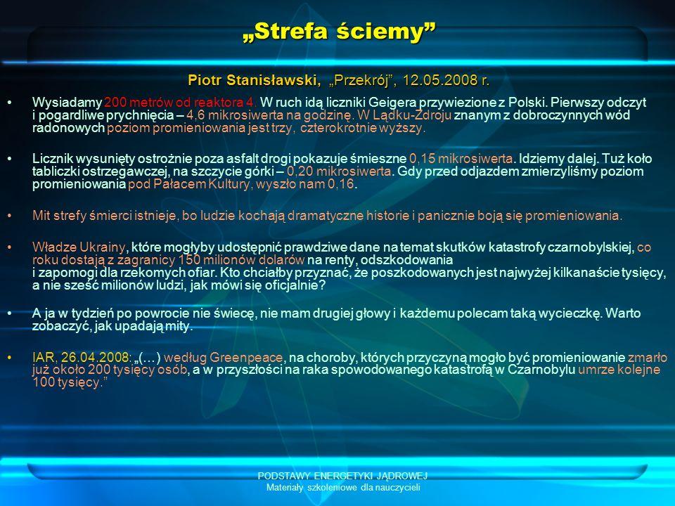 """""""Strefa ściemy Piotr Stanisławski, """"Przekrój , 12.05.2008 r."""